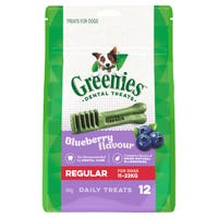 Greenies Blueberry Flavour Regular Dental Dog Treats - 12pk