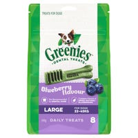 Greenies Blueberry Flavour Large Dental Dog Treats - 8pk