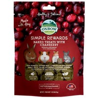 Oxbow Baked Treat Cranberry Small Animal Treats - 85g