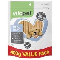 Vita Pet JerHigh Milky Sticks Dog Treats - 400g