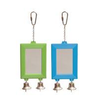 Kazoo Rectangular Mirror with Bell Bird Toy - Each
