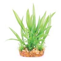 Kazoo Bush Thin Leaf Green Artificial Aquarium Plant - Small