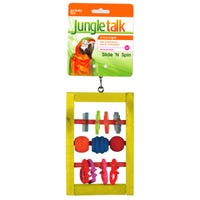 Jungle Talk Slide n Spin Bird Toy - Medium