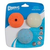 Chuckit Fetch Medley Ball Dog Toy Medium - 3pk