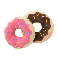 FuzzYard Donut Plush Dog Toy - 2pk