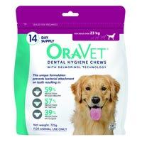 OraVet Dental Hygiene Dog Chews for Dogs 23+kg - 14 pack