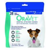 Oravet Dental Chew 4.5-11kg - 28 pack