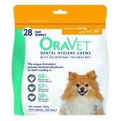 OraVet Dental Hygiene Dog Chews for Dogs under 4.5kg - 28 pack