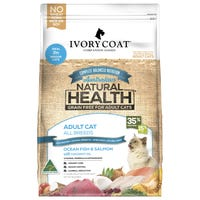 Ivory Coat Adult Cat Grain Free Ocean Fish and Salmon Indoor Dry Cat Food - 3kg