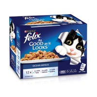 Felix Feline As Good As It Looks Ocean Menu Wet Cat Food 85g - 12pk