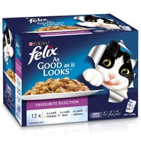 Felix Feline As Good As It Looks Favourites Menu Wet Cat Food 85g - 12pk