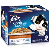 Felix Feline As Good As It Looks Country Menu Wet Cat Food 85g - 12pk