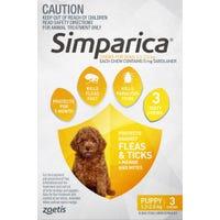 Simparica Flea And Tick Chews 1.3-2.5kg - 3pk
