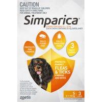 Simparica Flea And Tick Chews 5.1-10kg - 3pk