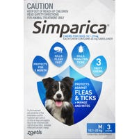 Simparica Flea And Tick Chews 10.1-20kg - 3pk