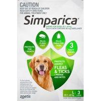 Simparica Flea And Tick Chews 20.1-40kg - 3pk