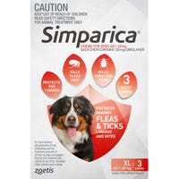Simparica Flea And Tick Chews 40.1-60kg - 3pk