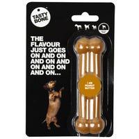 Tasty Bone Nylon Peanut Butter Flavoured Dog Chew Toy - XSmall