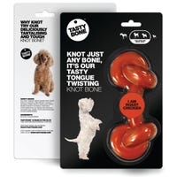Tasty Bone Knotted Bone Roast Chicken Flavoured Dog Chew Toy - Medium/Large