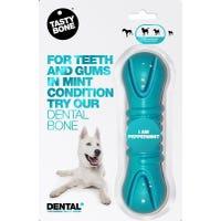 Tasty Bone Dental Bone Peppermint Dog Chew Toy - Large