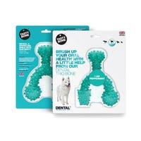 Tasty Bone Dental Trio Peppermint Dog Chew Toy - Large