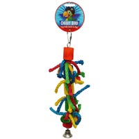 Cheeky Bird Cylinder & Rope with Bell Bird Toy - Medium