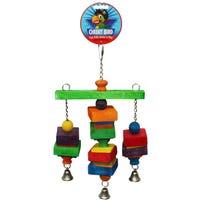 Cheeky Bird Hanging Tri-Bell Bird Toy - Medium