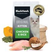 Black Hawk Feline Kitten Chicken and Rice Dry Cat Food - 3kg