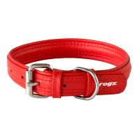 Rogz Collar Red Leather Dog Collar - XSmall
