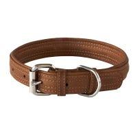 Rogz Collar Brown Leather Dog Collar - Small