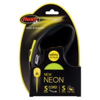 Flexi Cord Neon Retractable Dog Lead Small - 5m