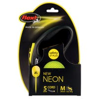 Flexi Cord Neon Retractable Dog Lead Medium - 5m
