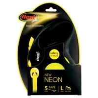 Flexi Tape Neon Retractable Dog Lead Large - 5m