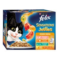 Felix Feline Sensations Jellies Mixed Menu Wet Cat Food 85g - 12pk