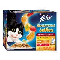 Felix Feline Sensations Sauces Meat Selection Wet Cat Food 85g - 12pk