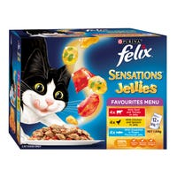 Felix Feline Sensations Jellies Favourites Selection Wet Cat Food 85g - 12pk