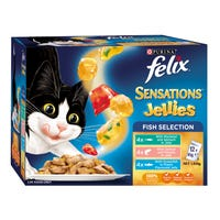 Felix Feline Sensations Sauces Fish Selection Wet Cat Food 85g - 12pk