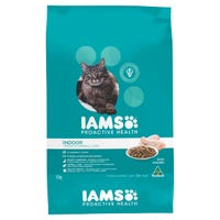 Iams Feline Adult Indoor Weight and Hairball Care Chicken Dry Cat Food - 8kg