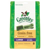 Greenies Grain Free Large Dental Dog Treats - 8pk