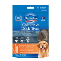 Mighty Raw Adult Chicken and Duck Dog Treats - 210g