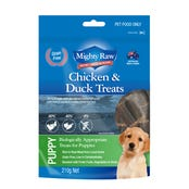 Mighty Raw Puppy Chicken and Duck Dog Treats - 210g