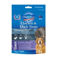 Mighty Raw Senior Chicken and Duck Dog Treats - 210g