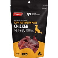 Prime100 Single Protein Chicken Fillet Dog Treats - 100g