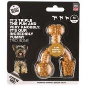 Tasty Bone Nylon Trio Peanut Butter Flavoured Dog Toy - XSmall