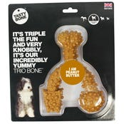 Tasty Bone Nylon Trio Peanut Butter Flavoured Dog Toy - Large