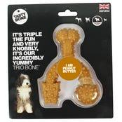 Tasty Bone Nylon Trio Peanut Butter Flavoured Dog Toy - Small