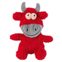 FuzzYard Flat Out Nasties Jordan the Bull No Stuffing Dog Toy - Each