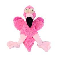 FuzzYard Flat Out Nasties Flo the Flamingo No Stuffing Plush Dog Toy - Each