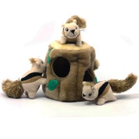 Outward Hound Hide A Squirrel Jr Interactive Plush Dog Toy - Large