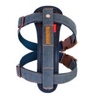 EzyDog Chest Plate Harness Denim Dog Harness - Large